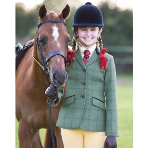 Equetech Junior Calvert Deluxe Tweed Riding  Jacket
